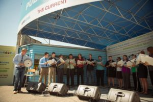 The State Fair Singers at the Minnesota State Fair in 2012
